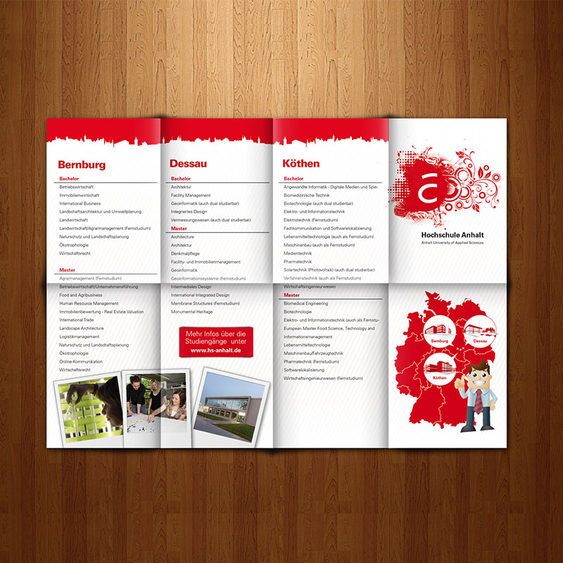 Faltflyer Design Agentur Wildau