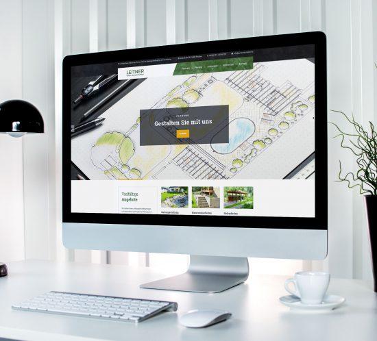 Webseite von Gartenbau Leitner
