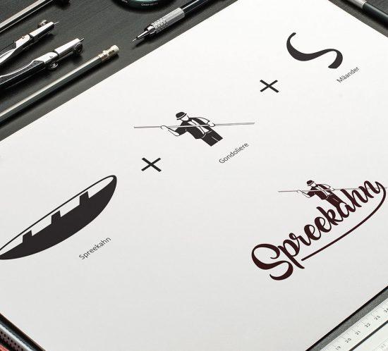 Die Spreekahn Logoentwürfe