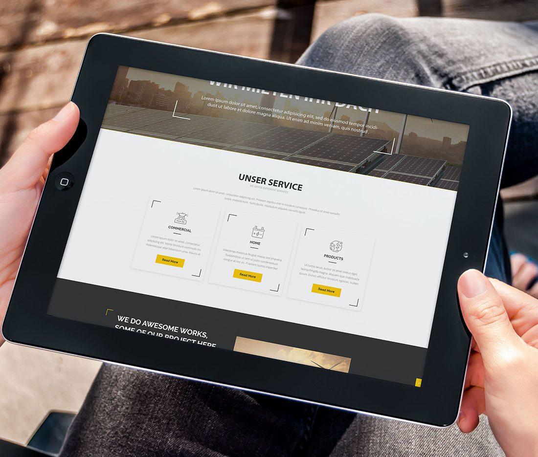 Energia Munda Webdesign Entwurf