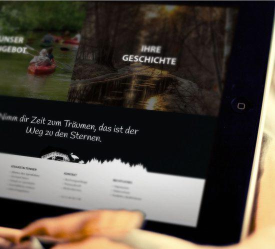 Footer der Spreekahn Webseite