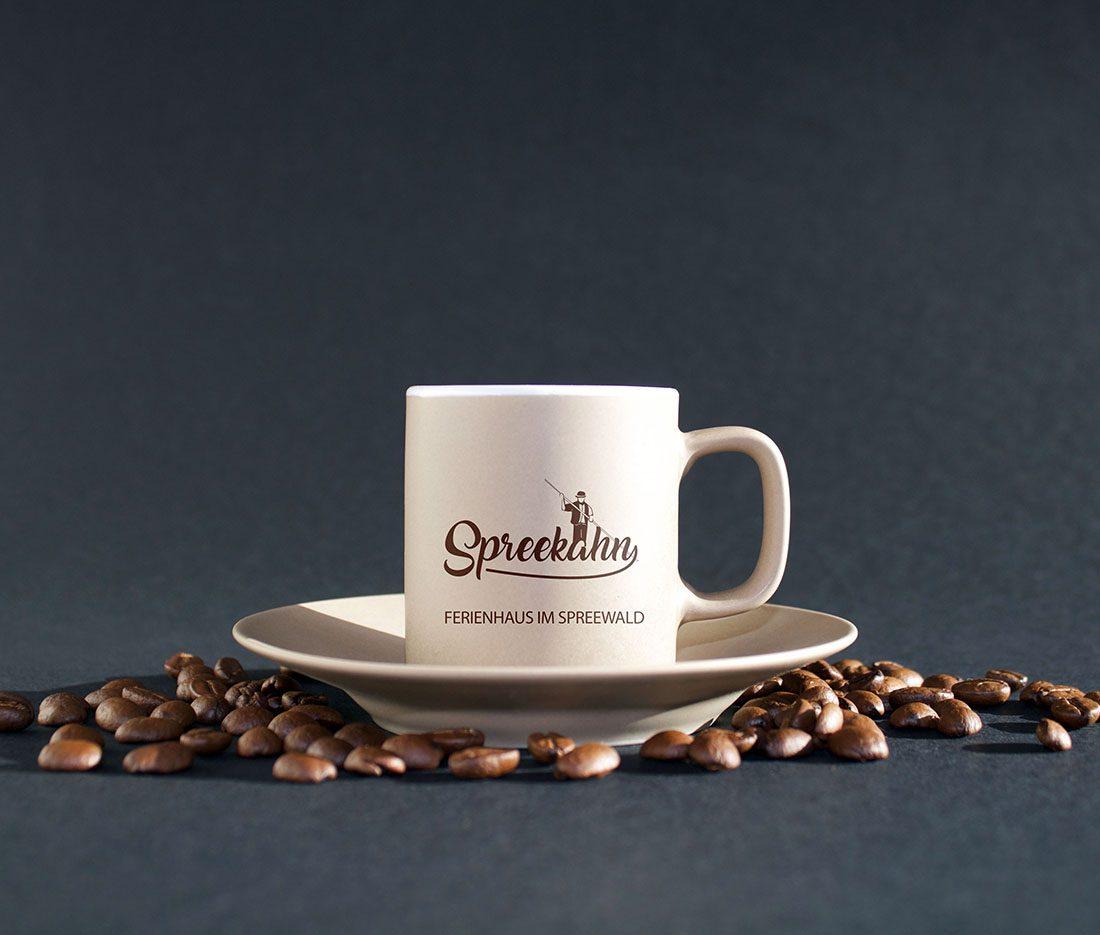 Kaffeetasse der Spreekahn Pension und Ferienhaus