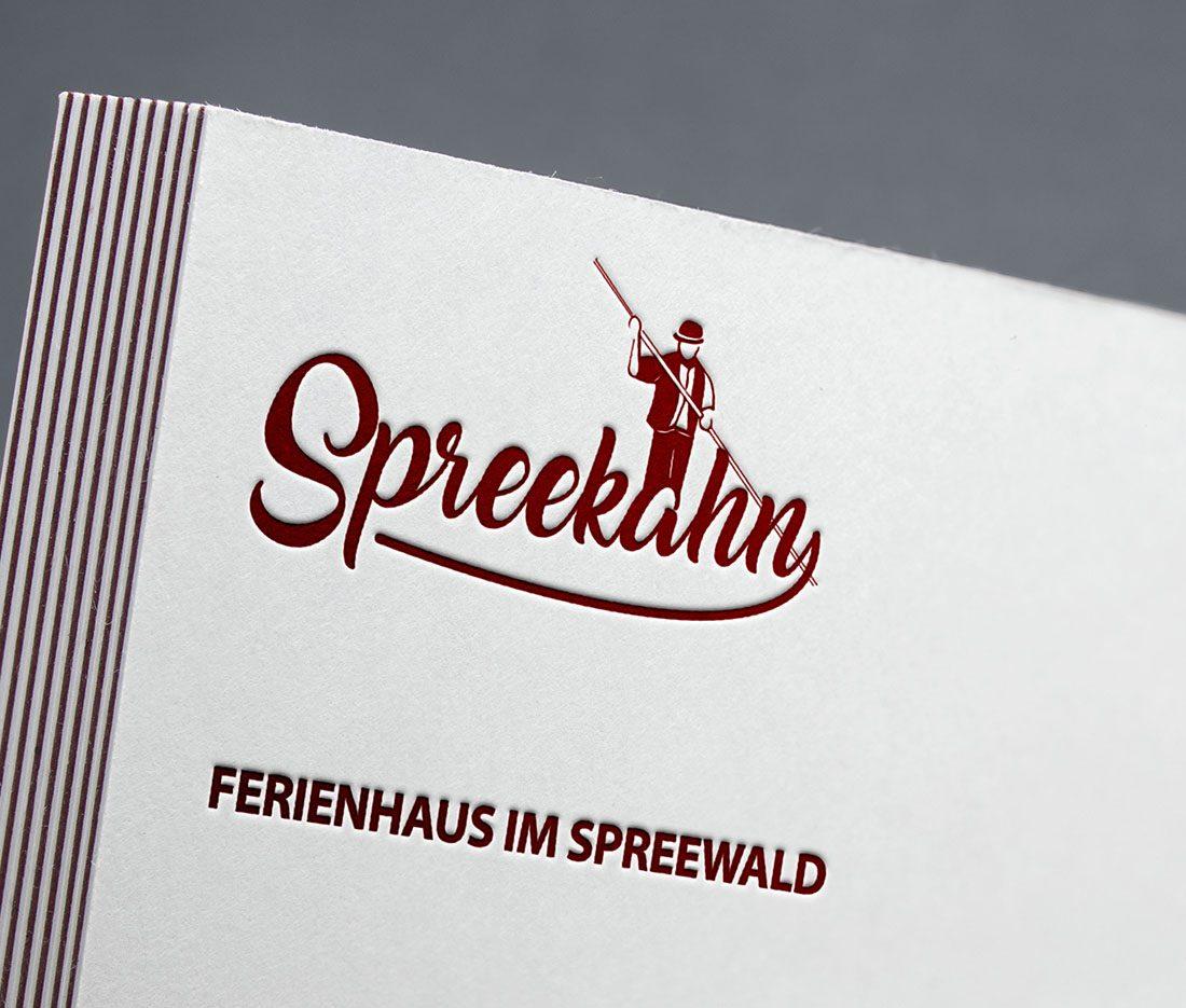 Spreekahn Visitenkarten mit Letterpress